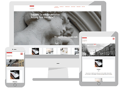 Thorn-Immobilien WebSite von Quintact